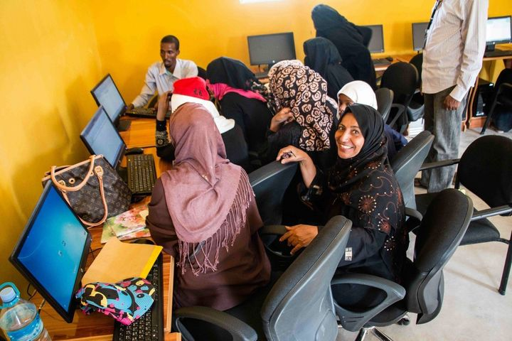 Yemeni and Somali women come together at a local community center in Hargeisa to equip themselves with skills that will lead