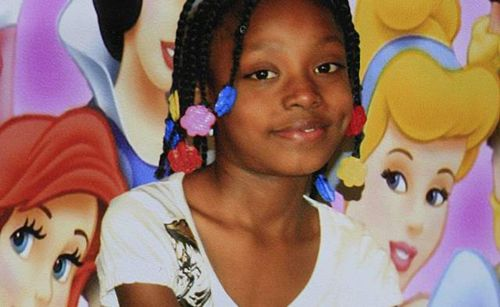 "Aiyana Stanley-Jones, 7, was asleep when she was <a href=""http://www.policestateusa.com/2014/aiyana-stanley-jones-raid/"" targ"