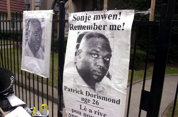 Patrick Dorismond, 26, was killed by undercover cops while he was waiting for a taxi outside of a New York City bar in 2000.