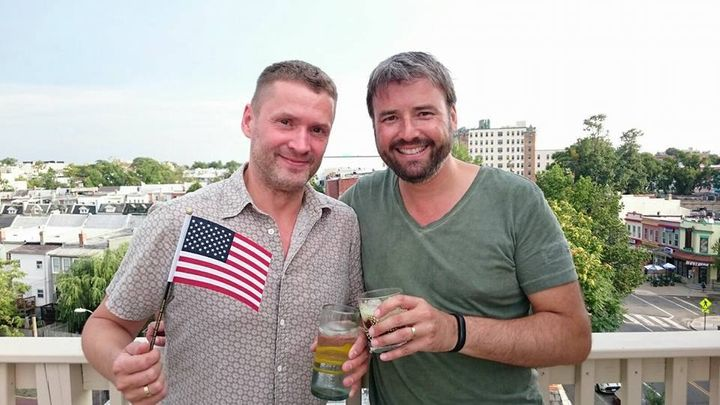 David Kero-Mentz (left), Ken's German-born husband, became a U.S. citizen last week.