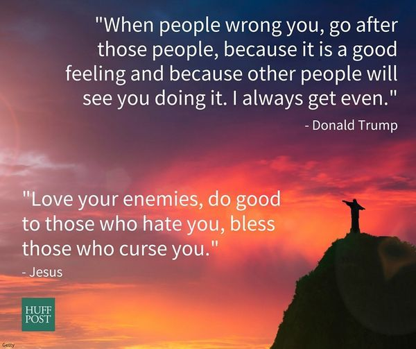 "<a href=""https://www.biblegateway.com/passage/?search=Luke+6"">Jesus</a>: ""Love your enemies, do good to those who hate"
