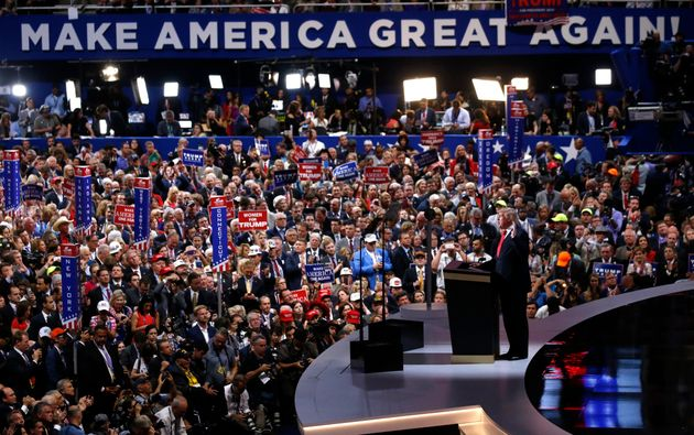 Republican U.S. presidential nominee Donald Trump formally accepts the nomination at the Republican National...