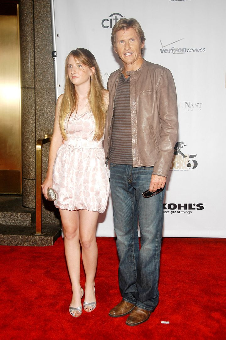 Denis and hisdaughter, Devin, at the Fashion Rocks benefit.