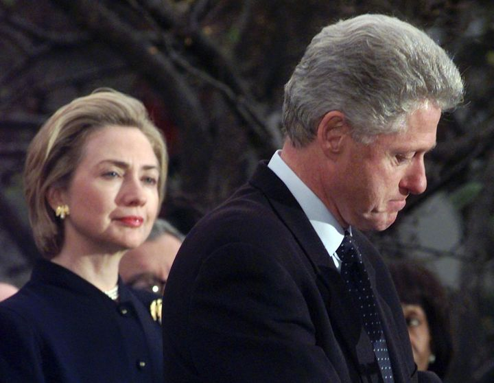 Hillary stands by Bill even as he faces impeachment in 1998
