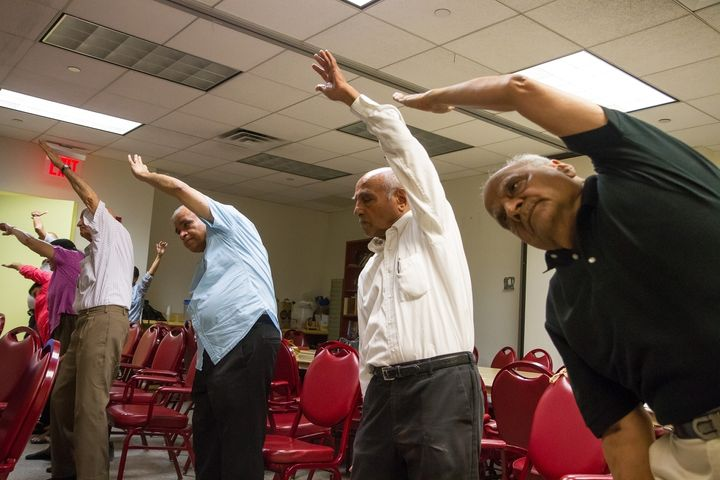 """Seniors keep fit through yoga. Experts say, """"South Asians haven't caught on that there's an impending crisi"""