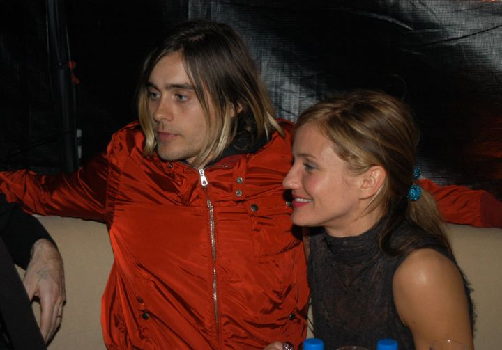 Jared Leto and Cameron Diaz together at a Golden Globes party.