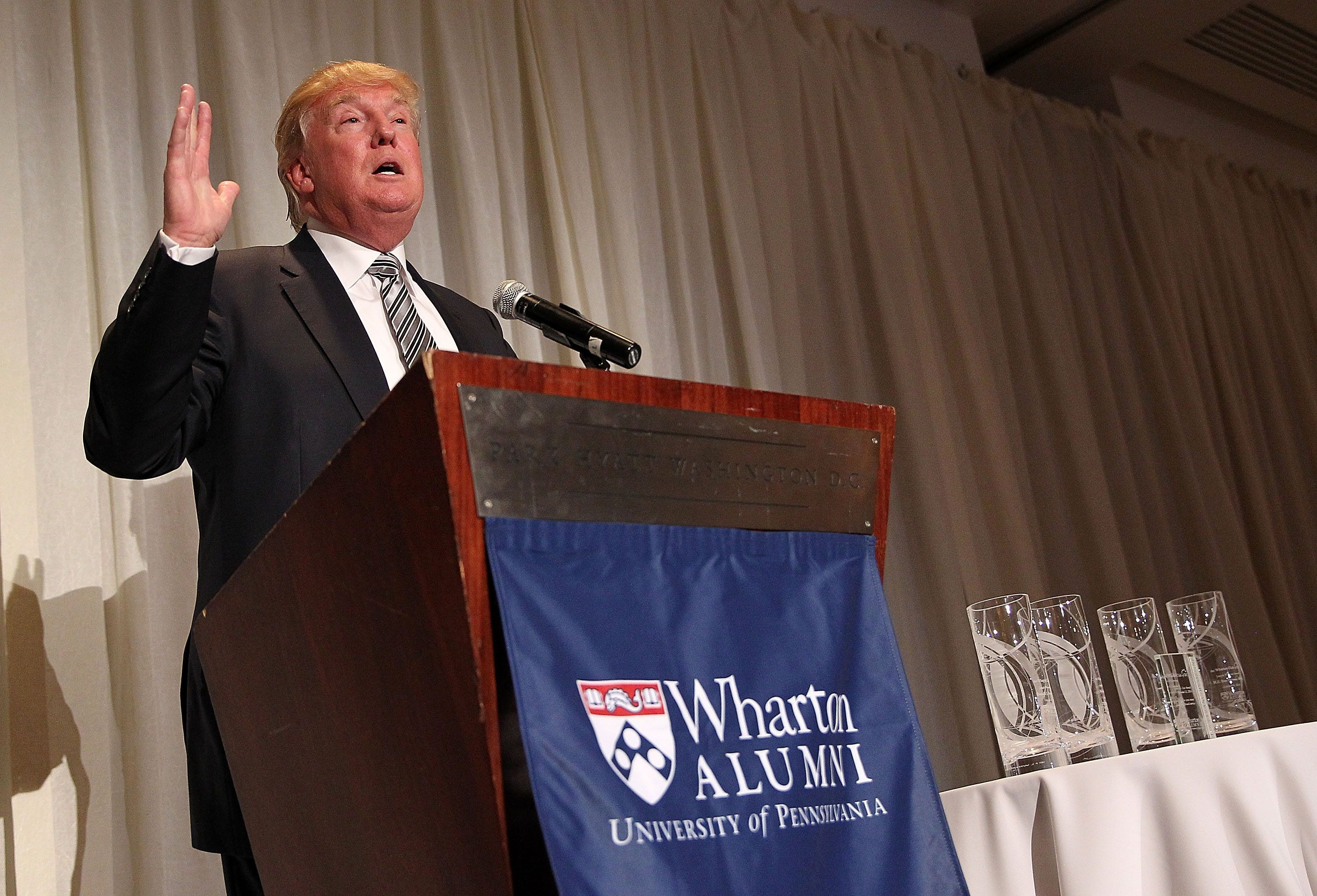 GOP presidential nominee Donald Trump loves to brag about the Wharton School. The feeling does not appear to b