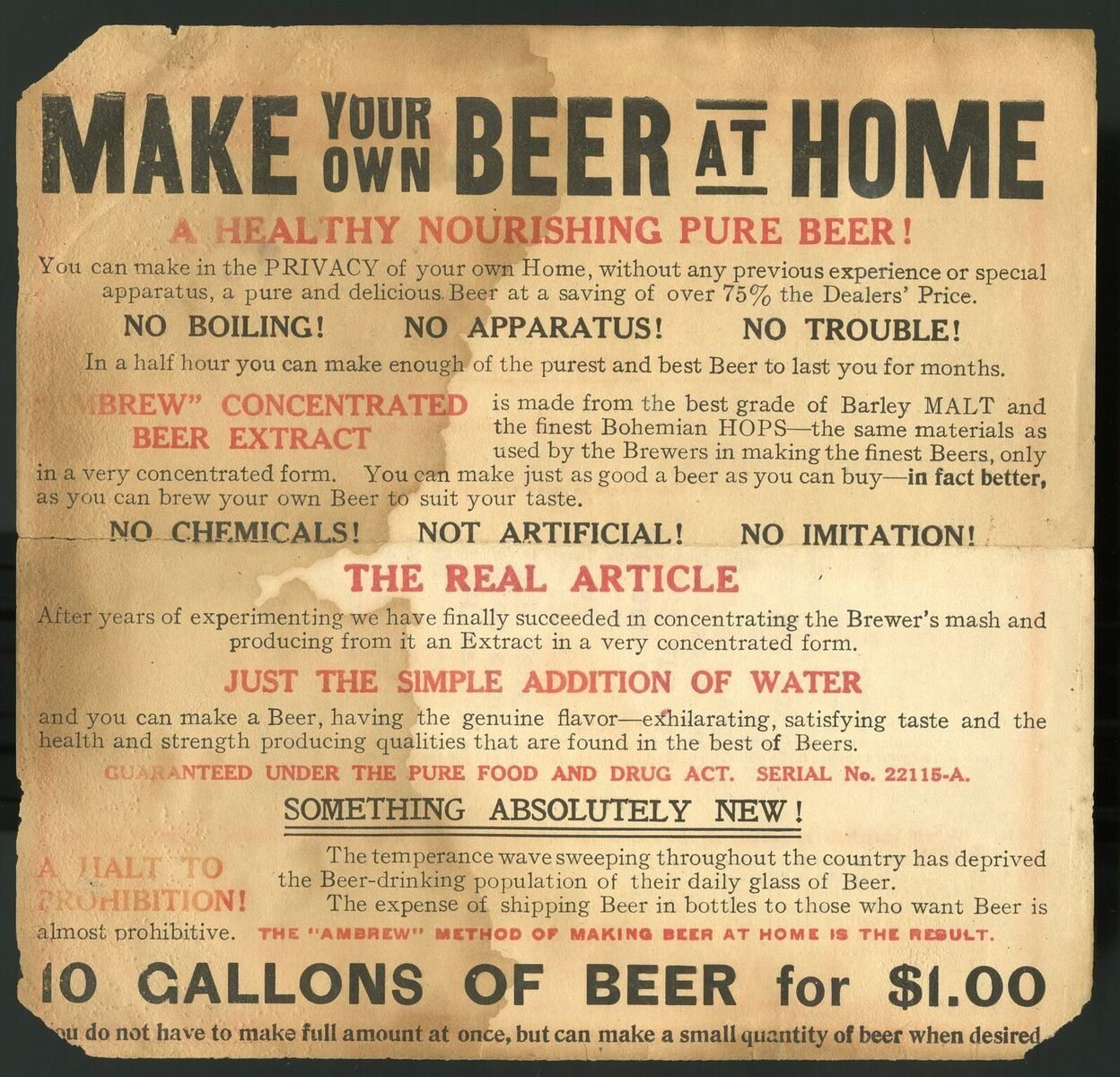 Advertisement for malt extract, circa 1900.