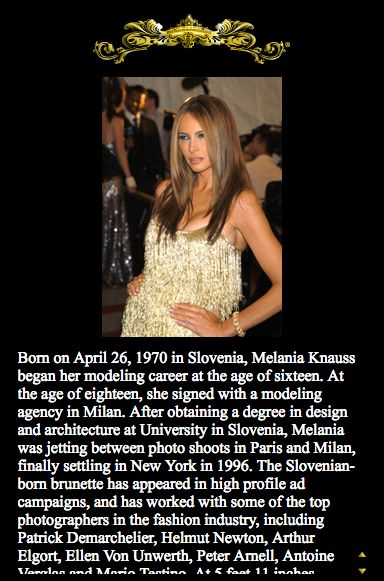 Melania Trump's Website, Biography Have Disappeared From The