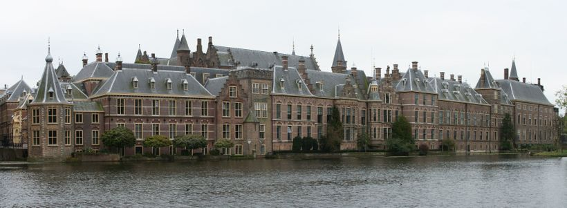 <i>Panoramic view of the Binnenhof, The Hague, where the Dutch Parliament meets. In 2015,a Dutch federal court in The H