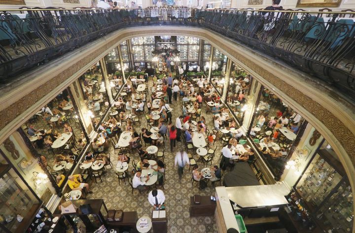 The historic Confeitaria Colombo first opened in Rio de Janeiro in 1894.