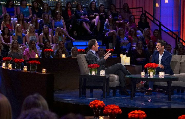 Wells in the hot seat with Chris Harrison.