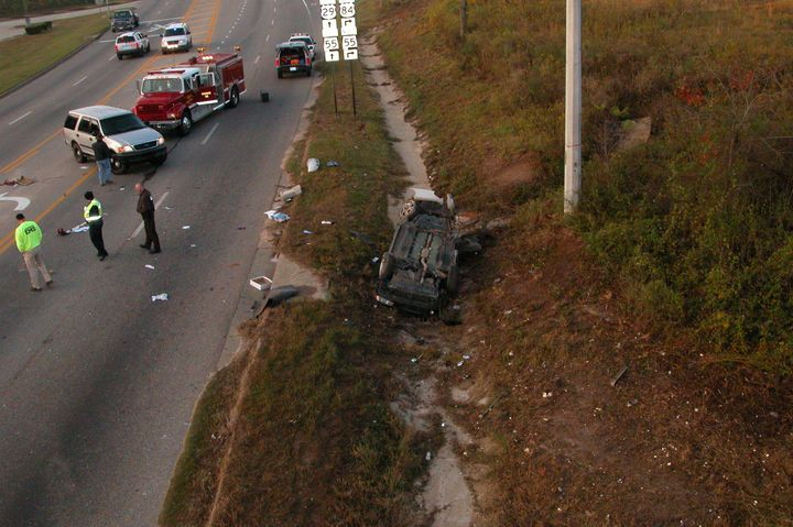 Sheila Faulkner's son died in a car crash off Highway 84 in Alabama in November 2006.