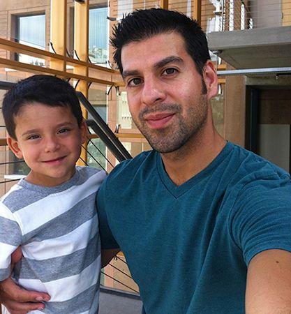 Alberto and his son, Benny.