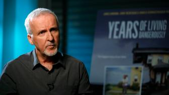 "Director James Cameron is interviewed in Manhattan Beach, California April 8, 2014. Cameron, best known as director of blockbuster films ""Titanic"" and ""Avatar"", has appealed to well-known Hollywood actors to act as correspondents for new Showtime documentary ""Years of Living Dangerously"", which chronicles the human impact on the global climate and the consequences for humans of climate change. Picture taken April 8, 2014. To match story TELEVISION-CLIMATECHANGE/      REUTERS/Lucy Nicholson (UNITED STATES - Tags: ENTERTAINMENT PROFILE ENVIRONMENT)"