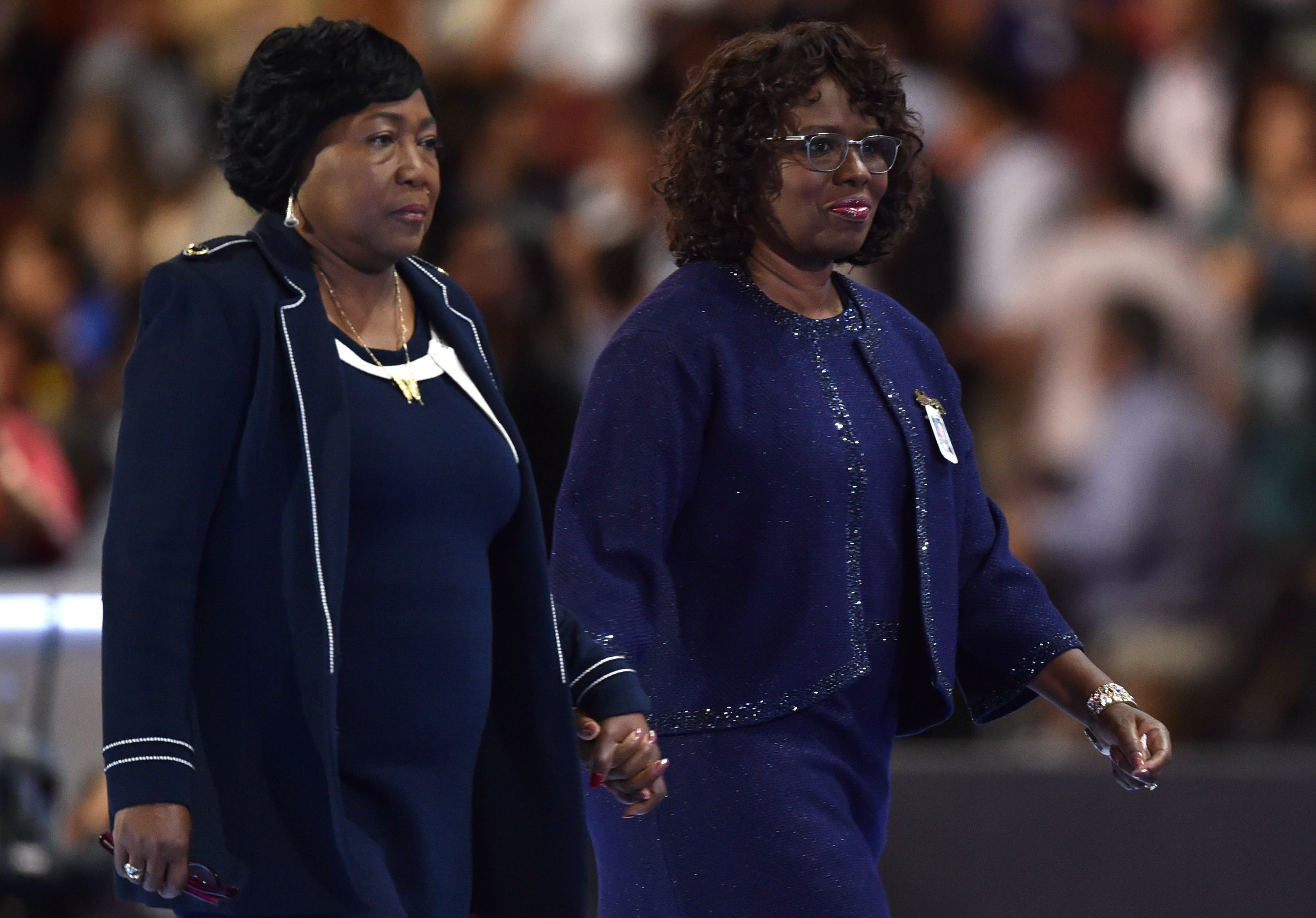 Felicia Sanders (R) and Polly Sheppard (L), two of the three survivors of the Mother Emanuel Church shooting in Charleston, S