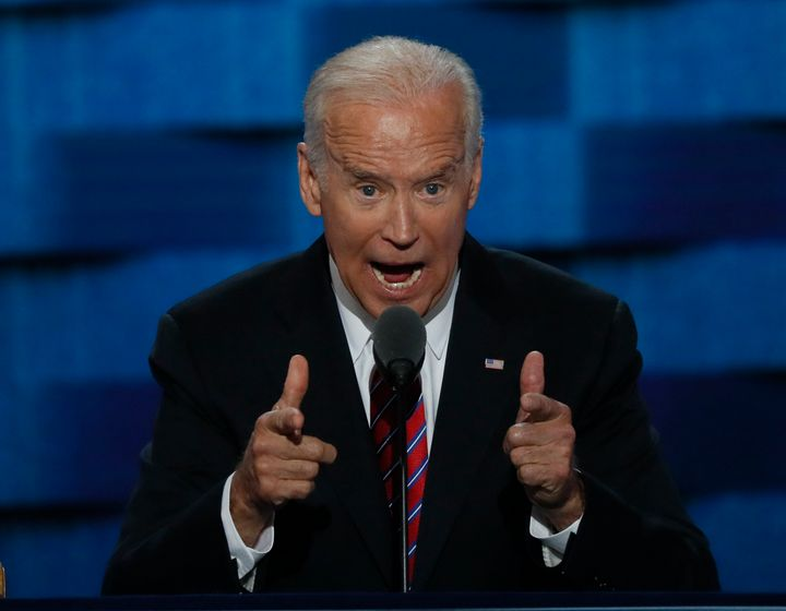 U.S. Vice President Joe Biden addresses the Democratic National Convention in Philadelphia on Wednesday.