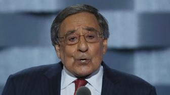 Former U.S. Congressman and Secretary of Defense Leon Panetta speaks on the third day of the Democratic National Convention in Philadelphia, Pennsylvania, U.S. July 27, 2016. REUTERS/Mike Segar