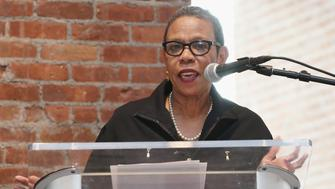 NEW YORK, NY - SEPTEMBER 22:  President of Spelman College, Mary Schmidt Campbell speaks at a press conference launching Turnarond Arts in NYC Schools at the Brooklyn Museum on September 22, 2015 in the Brooklyn borough of New York City.  (Photo by Mireya Acierto/FilmMagic)