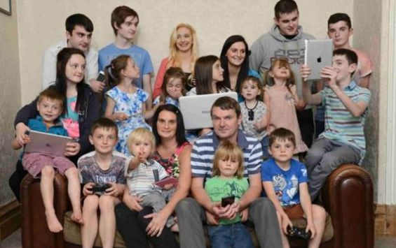 The Radford family before Phoebe was
