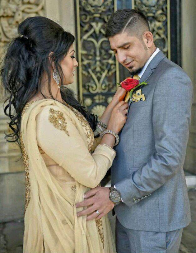 Beauty therapist Samia Shahid, of Bradford, with her second husband Syed Mukhtar