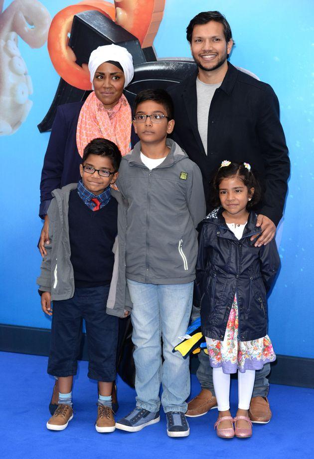 Nadiya with her husband Abdul and their three