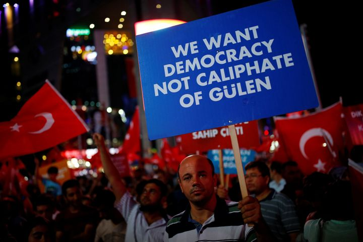 Erdogan's government blames Turkish Muslim cleric Fethullah Gulen, currently living in exile in the U.S., for the coup.