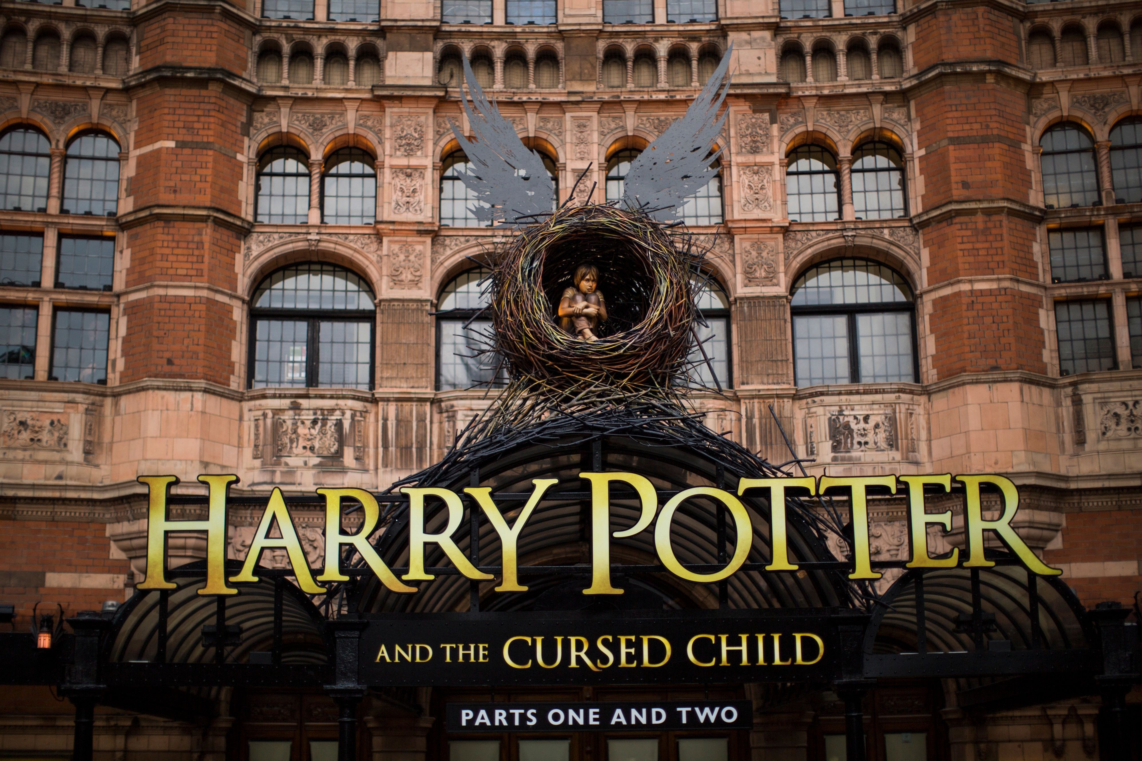 """A general view of The Palace Theatre, following the first preview of """"Harry Potter and The Cursed Child"""" on June 8, 2016, in"""