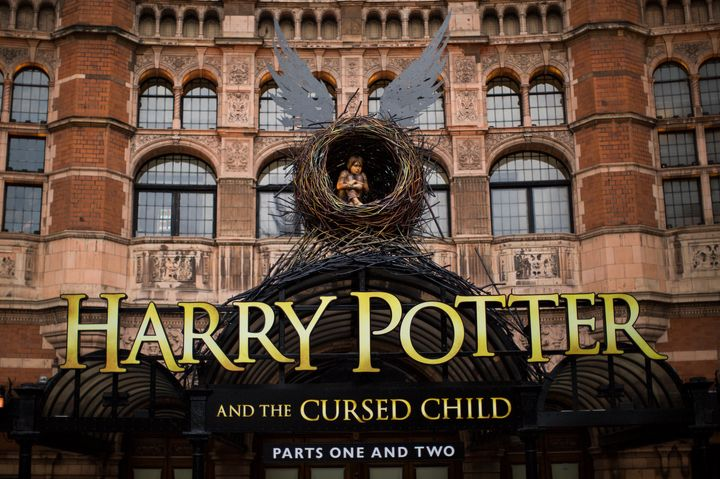 "A general view of The Palace Theatre, following the first preview of ""Harry Potter and The Cursed Child"" on June 8, 2016, in"