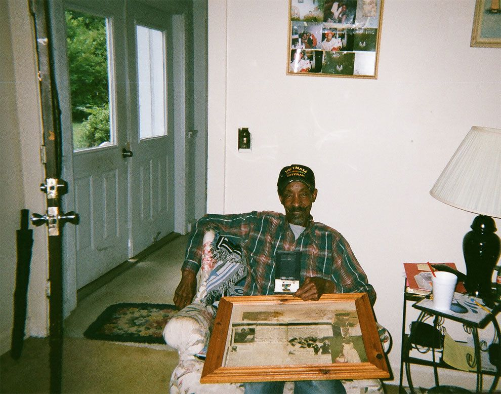 """""""I have a lot of respect for older people and veterans. He and I spend time together and eat turkey neck bones. He's got a creek outside his house that I like to spend time at. We have the freedoms today because of people like him. He didn't have a choice but to be in the military and I respect his efforts and life."""""""