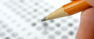 EXAM MULTIPLE CHOISE ANSWER SHEET TEST PENCIL