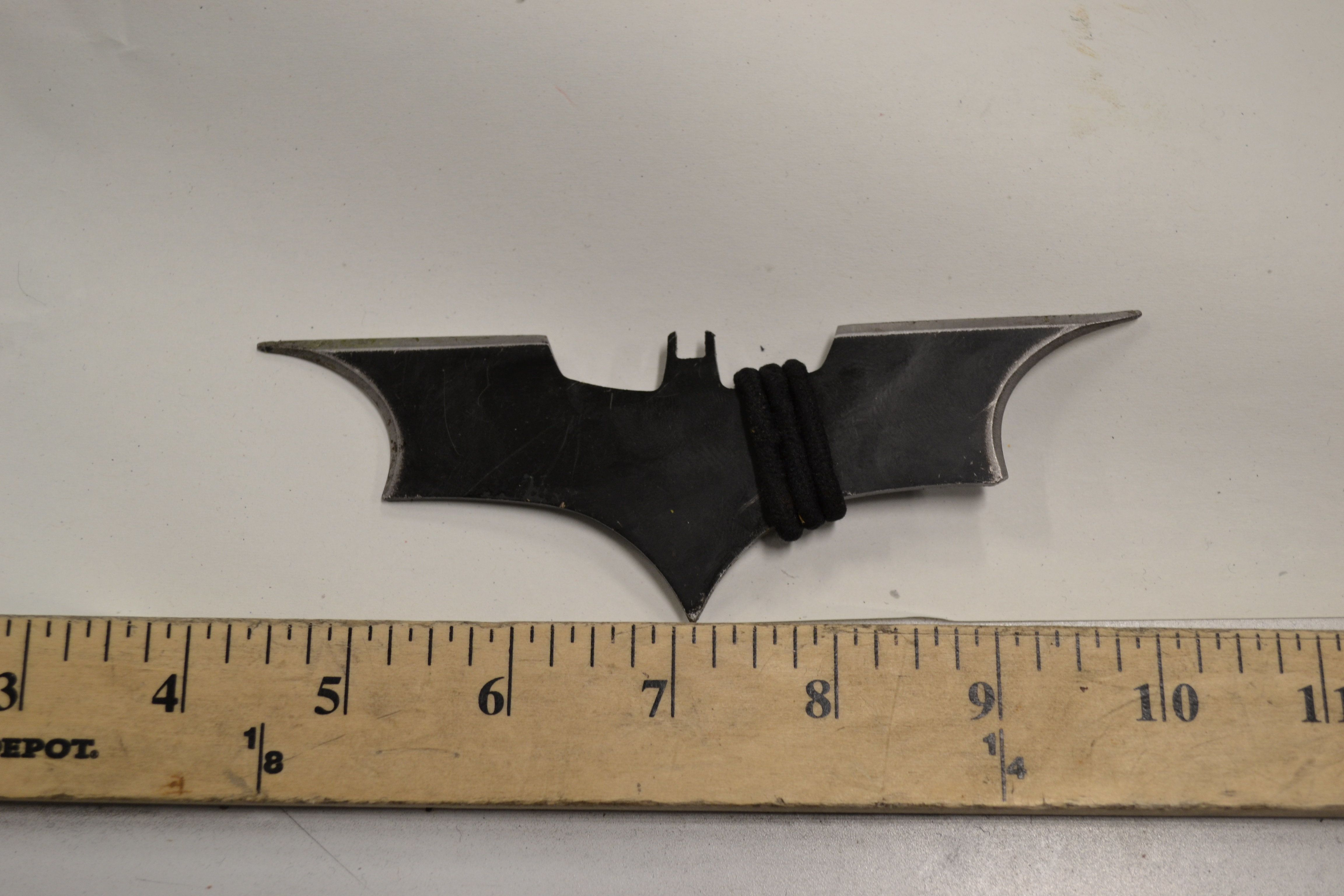 Seattle police say they recovered this bat-shaped weapon after it was hurled at their officers.