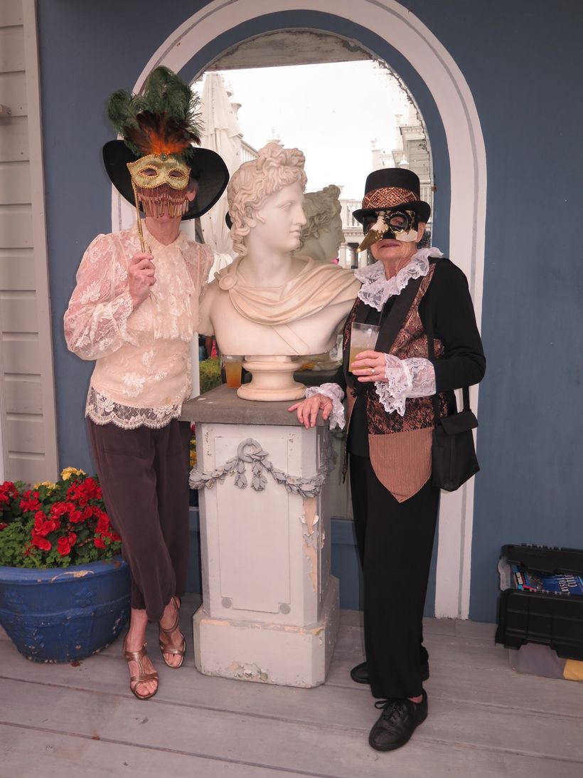 "<a href=""http://photographybylorraine.net/"" target=""_blank"">Attendees</a> at the Venetian Carnival, fundraiser for the histor"