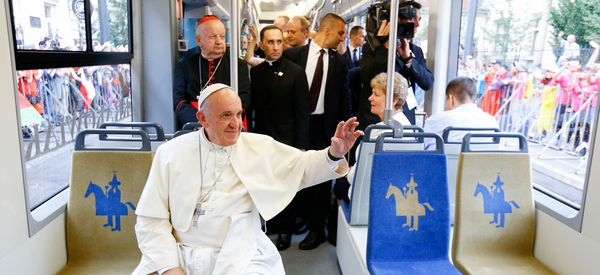 Pope Achieves Modern Miracle By Finding An Empty Seat On Public Transit