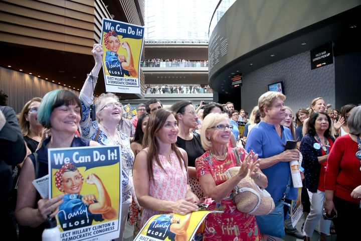 Women at the big EMILY's List event on Wednesday at the Democratic National Convention.