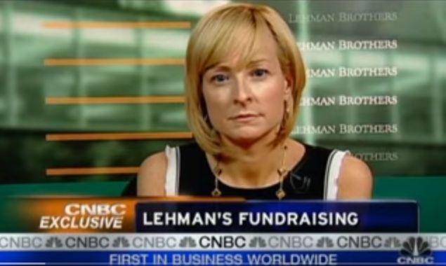 Erin Callan on CNBC during the financial crisis.