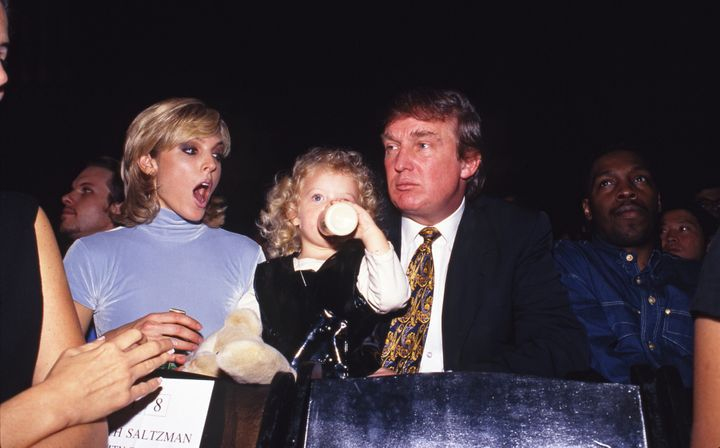 Trump, second wife Marla Maples and their daughter Tiffany in 1995.