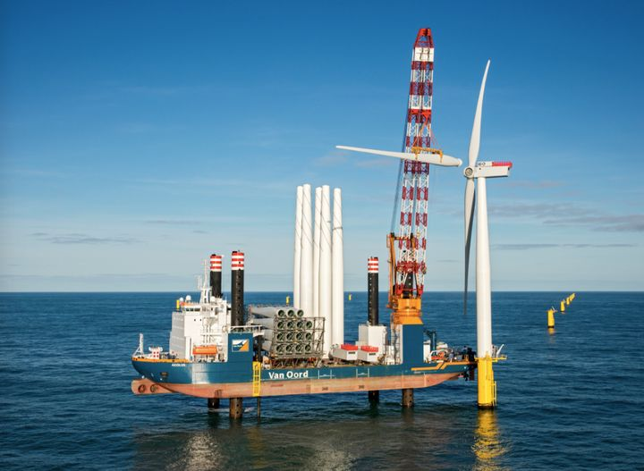 <i>Van Oord, an international dredging and offshore contractor, installed the 100th wind turbine in the 600 MW Gemini wind fa