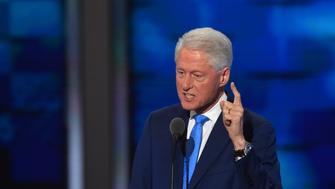 PHILADELPHIA, PA - JULY 26: Former President Bill Clinton addresses  the Democratic National Convention in Philadelphia on Tuesday, July 26, 2016. (Photo by Ricky Carioti/The Washington Post via Getty Images)