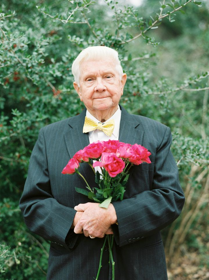 """When they built their house years ago, Papaw planted a rose bush outside of their bedroom window. He has always said, """"Billie"""