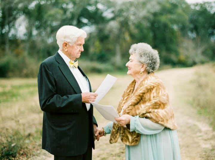 Nelson asked her grandparents to write love letters to each other and read them aloud during the shoot.