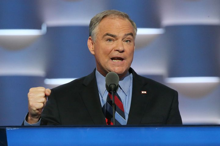 Democratic U.S. Vice President nominee Tim Kaine.