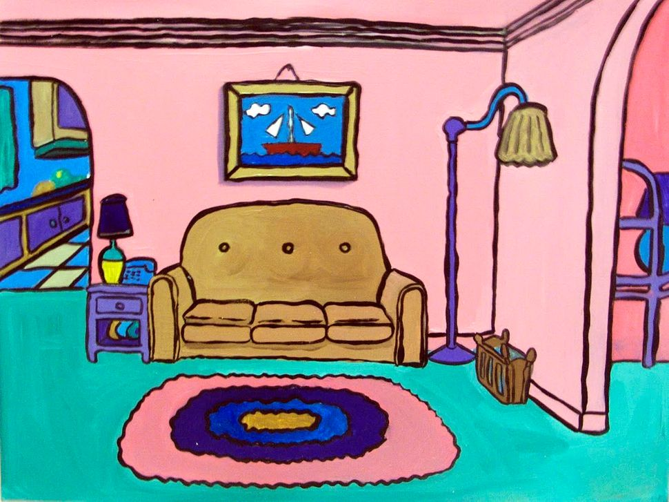 These Paintings Of \'90s Sitcom Living Rooms Will Take You Back To A ...