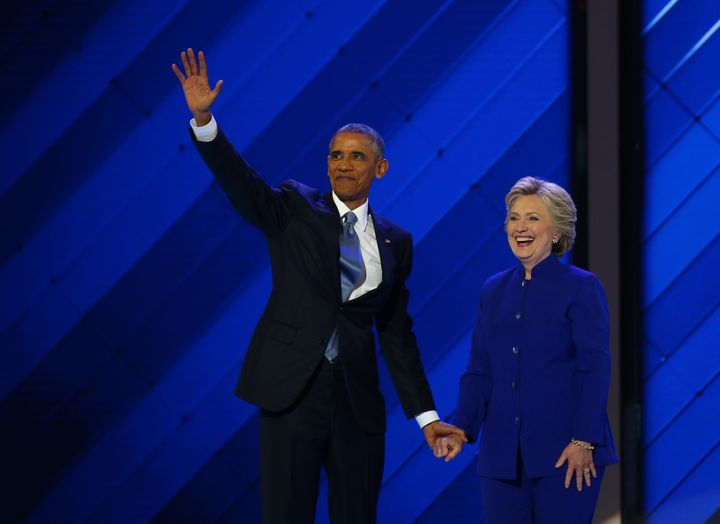 President Barack Obama unequivocally painted Hillary Clinton as his political heir during his speech to the DNC on Wednesday.