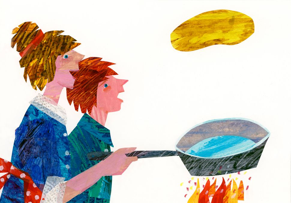 Illustration from <i>Pancakes, Pancakes!</i>&nbsp;&copy; 1990 by Eric Carle.