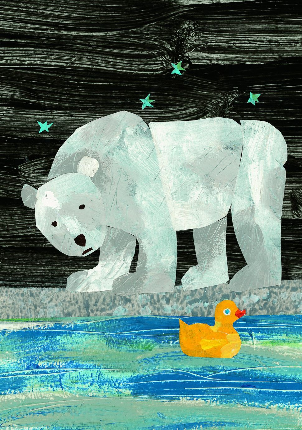 Illustration from <i>10 Little Rubber Ducks</i> © 1990 by Eric Carle.