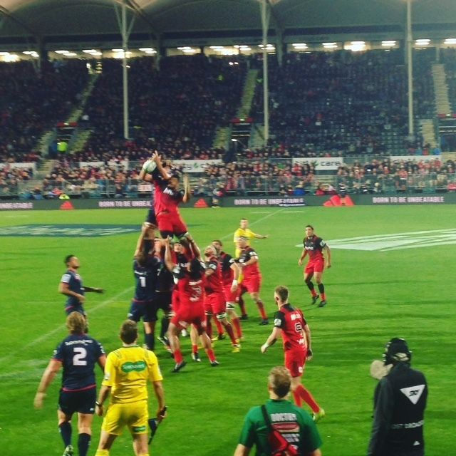 A Crusaders Game in Christchurch
