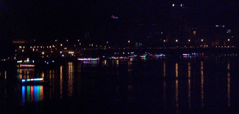 Party boats on the river Nile