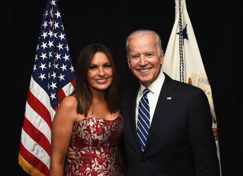 Vice President Joe Biden, seen with actress and Joyful Heart Foundation founder Mariska Hargitay, will appear in an upcoming