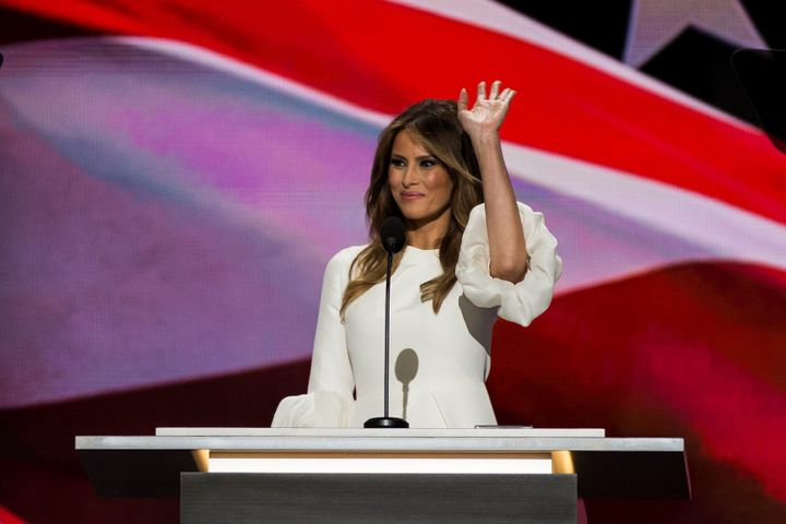 Melania Trump speaks at the Republican National Convention.